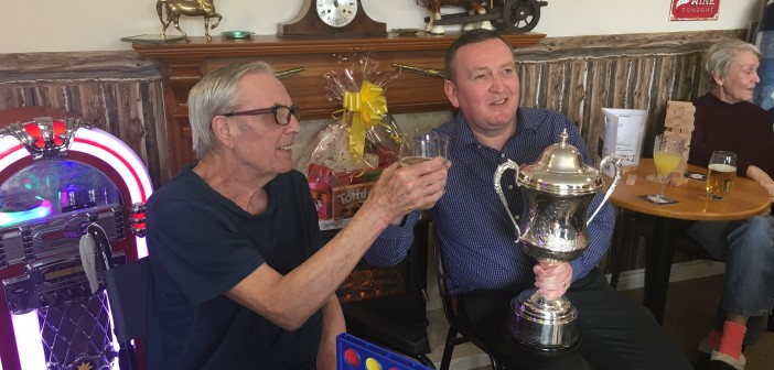 Photo2 - World darts champion Glen Durrant with Middlesbrough Grange resident Peter Evans