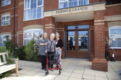 Resident Anne Church with Sandie Mole (Home Manager) and Niki Richards (Care & Quality Director) (2)