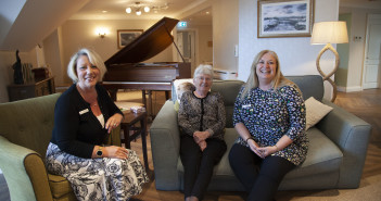 Resident Anne Church with Sandie Mole (Home Manager) and Niki Richards (Care & Quality Director)