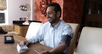 Telehealth - Man taking blood pressure