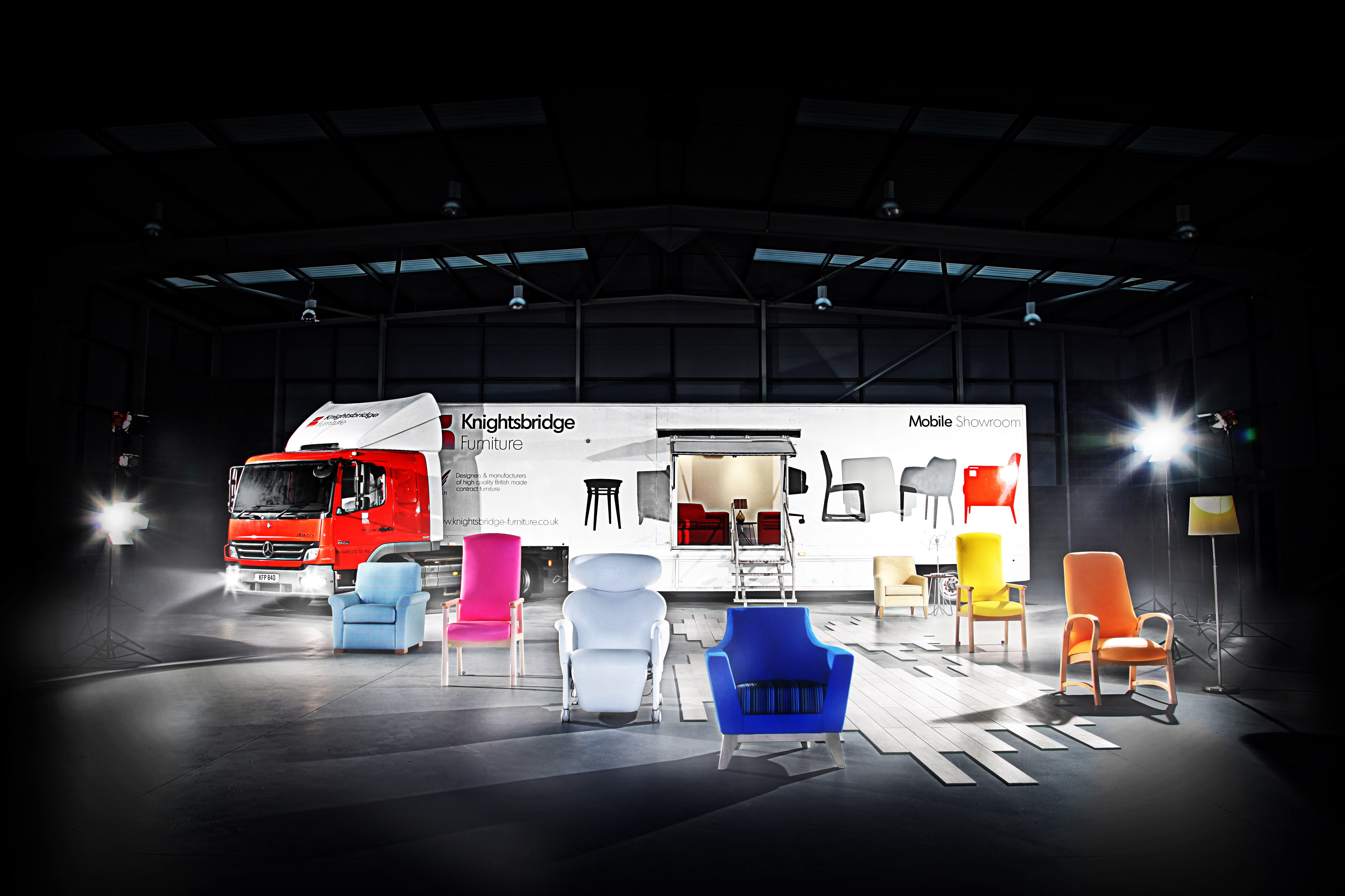Knightsbridge Furniture's mobile show-room is ready to come down your way!
